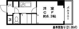 ドミール錦糸町2[10階]の間取り