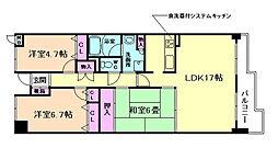 池田五月丘パークハウス[4階]の間取り