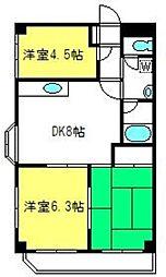 埼玉県さいたま市見沼区大字風渡野の賃貸マンションの間取り