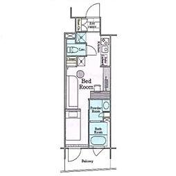 東京メトロ丸ノ内線 四谷三丁目駅 徒歩4分の賃貸マンション 2階ワンルームの間取り
