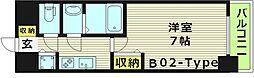 プレサンス水都OKAWA 14階1Kの間取り