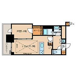 都営三田線 春日駅 徒歩1分の賃貸マンション 13階1LDKの間取り
