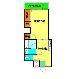 保土ヶ谷太田ビル[2階]の間取り