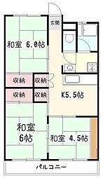 サニーライフ久米川[5階]の間取り