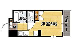 井尻コスモビル[406号室]の間取り