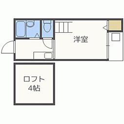 サクセス南福岡[106号室]の間取り