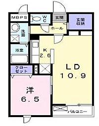 神奈川県座間市栗原中央5丁目の賃貸マンションの間取り
