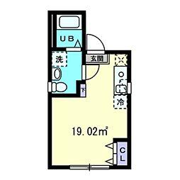グランメゾン上野広小路 5階ワンルームの間取り