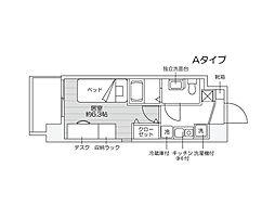 JR越後線 新潟大学前駅 徒歩5分の賃貸マンション 2階1Kの間取り