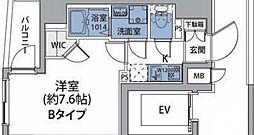 JR中央線 中野駅 徒歩8分の賃貸マンション 2階1Kの間取り