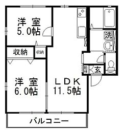 パインツリー D[2階]の間取り