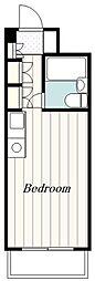 小田急小田原線 愛甲石田駅 徒歩12分の賃貸マンション 3階ワンルームの間取り