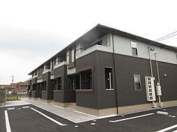 岡山県岡山市南区植松の賃貸アパートの外観