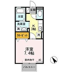 愛知県岡崎市栄町4丁目の賃貸アパートの間取り