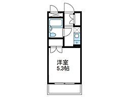 神奈川県座間市相武台3丁目の賃貸マンションの間取り