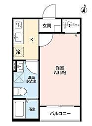 埼玉県さいたま市中央区本町西3丁目の賃貸アパートの間取り