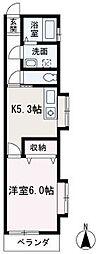 埼玉県新座市野火止2丁目の賃貸マンションの間取り