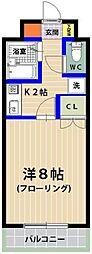 シャトレ21箱崎[301号室]の間取り