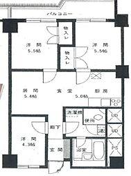 東京都目黒区自由が丘2丁目の賃貸マンションの間取り