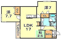 (仮称)シャーメゾン神戸市東灘区深江南町 2階2SLDKの間取り