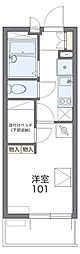 JR総武線 稲毛駅 徒歩10分の賃貸マンション 2階1Kの間取り