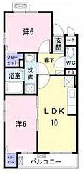 東急田園都市線 青葉台駅 バス9分 鴨志田町下車 徒歩4分の賃貸マンション 3階2LDKの間取り