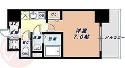 Osaka Metro中央線 九条駅 徒歩7分の賃貸マンション 9階1Kの間取り