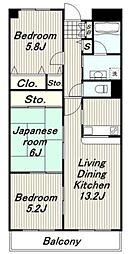 ガーデンハート[1階]の間取り