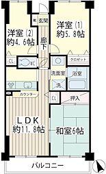 北寺尾大滝マンション[1階]の間取り