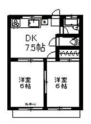 山崎ハイツ[102号室]の間取り