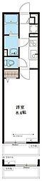 リブリ・武蔵野 3階1Kの間取り