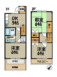 [テラスハウス] 神奈川県横浜市栄区飯島町 の賃貸【/】の間取り