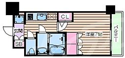 おおさか東線 JR淡路駅 徒歩6分の賃貸マンション 12階1Kの間取り