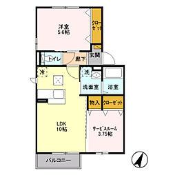 埼玉県八潮市大字柳之宮の賃貸アパートの間取り