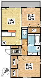 (仮)D-room東町[3階]の間取り