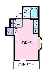 レジデンスヤマダ[2階]の間取り