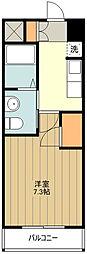 JR五日市線 武蔵五日市駅 徒歩7分の賃貸アパート 1階1Kの間取り