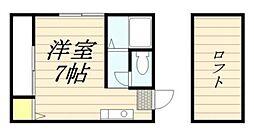 徳島コーポII[105号室]の間取り
