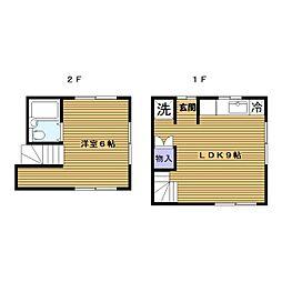[一戸建] 神奈川県横浜市神奈川区六角橋1丁目 の賃貸【/】の間取り