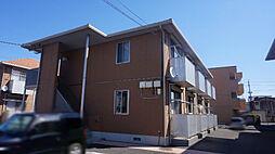 栃木県小山市花垣町1丁目の賃貸アパートの外観