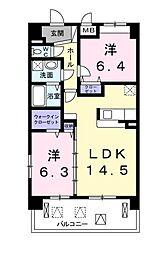 トラディシオン トゥール[4階]の間取り