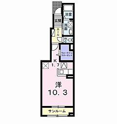 サンライズ A棟[102号室]の間取り