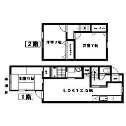 テラスハウス青葉C棟[3号室]の間取り