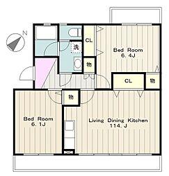 ひかり第1マンション[1階]の間取り