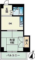 サンアイマンション[0402号室]の間取り