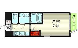 エスリード京橋アミュゼ 8階1Kの間取り