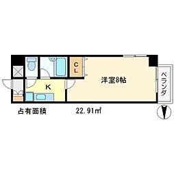 アーベイン吉田[3階]の間取り