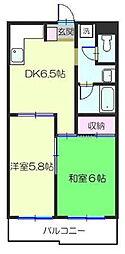 ドルフ安藤橋I[1階]の間取り