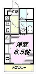 JR中央線 八王子駅 徒歩14分の賃貸マンション 3階1Kの間取り