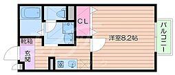 サクシードカワムラ[1階]の間取り